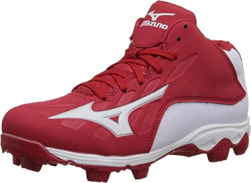 Mizuno 9 Spike ADV YTH FRHSE8 MD Rd-WH Youth Molded Cleat (Little Kid Big Kid)