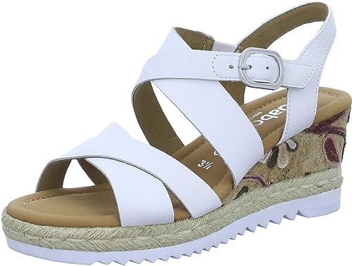 Gabor 22.832 Femme,Sandales compensées,Chaussures d'été,Confortable,Plat