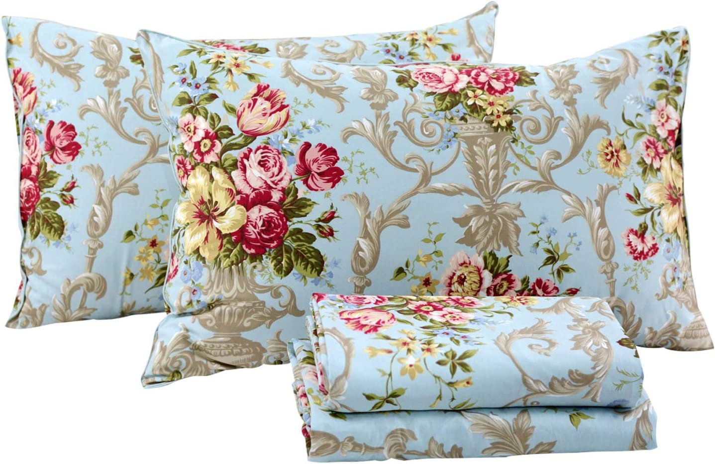 FADFAY Shabby Floral Bedding Elegant Set Bed Columbus Mall Peony Max 85% OFF Luxury Sheets