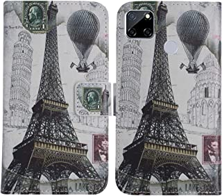 TienJueShi Eiffel Tower Fashion Stand TPU Silicone Book Stand Flip PU Leather Protector Phone Case For Oppo A15s 6.52 inch...
