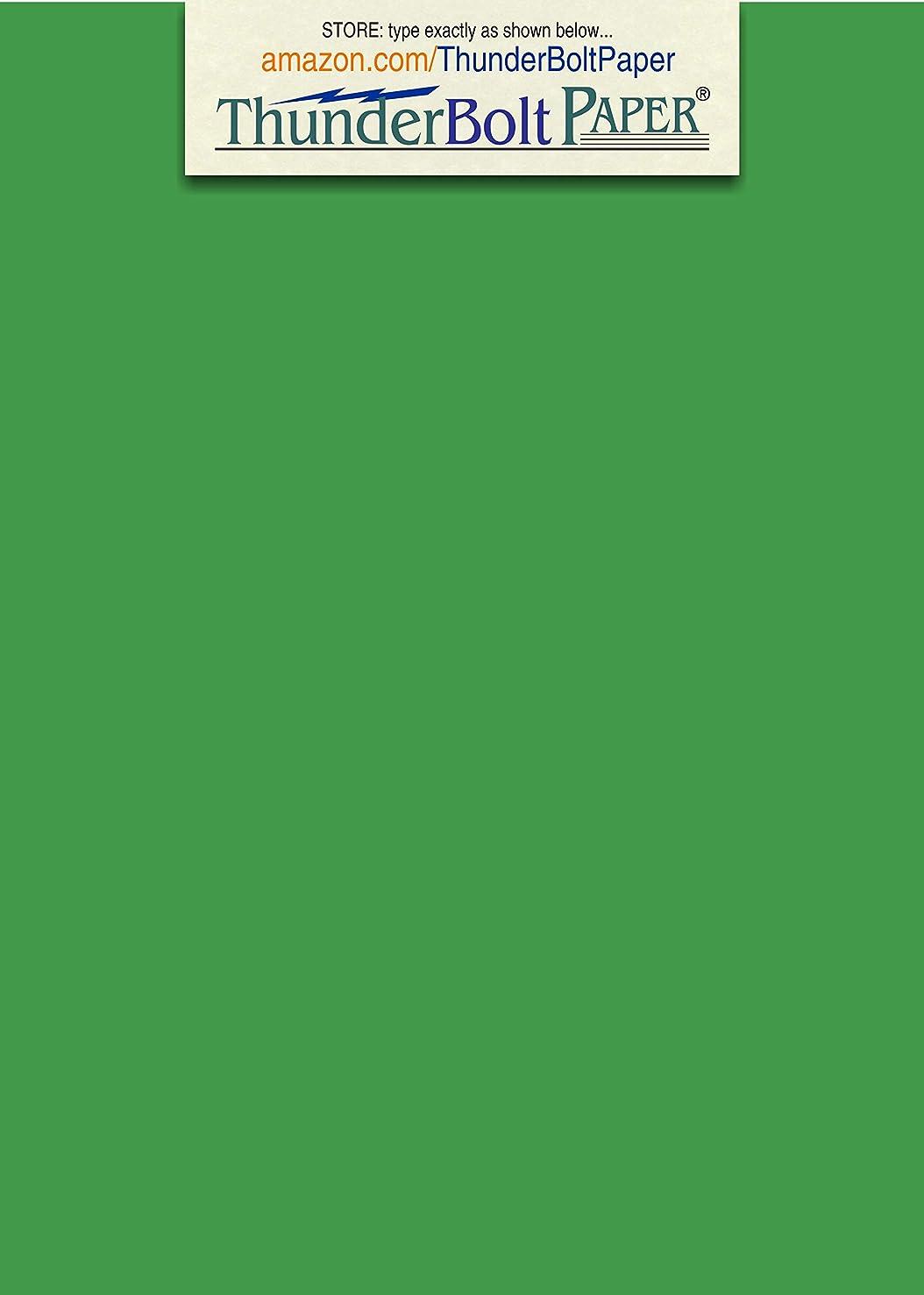 150 Bright Green 65lb Cover Card Paper - 5
