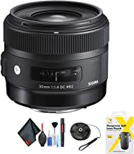 Sigma 30mm f/1.4 DC HSM Art Lens for Nikon for Nikon F Mount + Accessories (International Model)