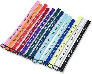 W.W.J.D. Bracelet Assortment (26 pc) 13 Colors Plus Bonus Friendship Bracelets What Would Jesus Do Bracelets - Religous Christian Bracelet Pack