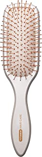 Titania Mother-of-Pearl Styling Rectangular Hair Brush - Premium Quality Detangler Hairbrush w/Copper Coated Ball Tipped Bristles - Ideal For Grooming & Blowdrying Natural Hair, Extensions & Wigs