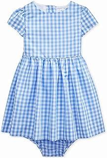 Ralph Lauren Baby Girls Gingham Taffeta Dress & Bloomer Set (18 Months)