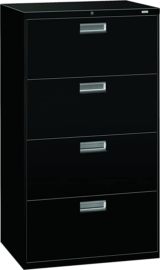 Hon 4 Drawer Lateral File Cabinet With Lock 30 By 19 1 4 By 53 1 4 Inch Charcoal Furniture Decor Amazon Com