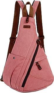 BAOSHA Women's Canvas Sling Crossbody bag Casual Daypack Outdoor Travel Hiking Backpack XB-10