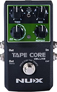 NUX Tape Core Deluxe Tape Echo Delay Guitar pedal True Bypass Firmware Upgradeable