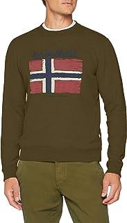 Napapijri Men's Balys Sweatshirt (Green Musk Gd3), Large 海外卖家直邮