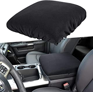 E-cowlboy Center Console Armrest Pad Cover for Dodge Ram 1500 2500 3500 4500 5500 Pickup Trucks 1993~2018 Black Soft Car Armrest Protector Cushion All Seasons