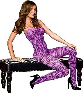 Music Legs Women's Zebra Print Bodystocking