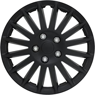 """Pilot 14/"""" Chrome Wheel Cover 8 Spoke With Black Inserts WH541-14C-BLK"""