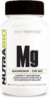 NutraBio Reacted Magnesium Supplement (120 Vegetable Capsules, 200mg per Serving)