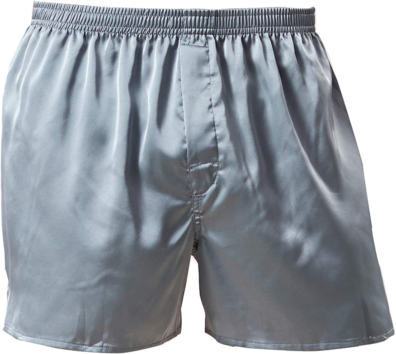 Men's Satin Boxers Shorts Print Sleepwear Underwear Classic Silky Pajama Bottom Shorts Valentine's Day Sleep Shorts