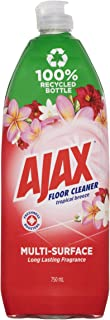 Ajax Floor Cleaner Multi Surface Long Lasting Fragrance Tropical Breeze Cleaner Made in Australia 750mL