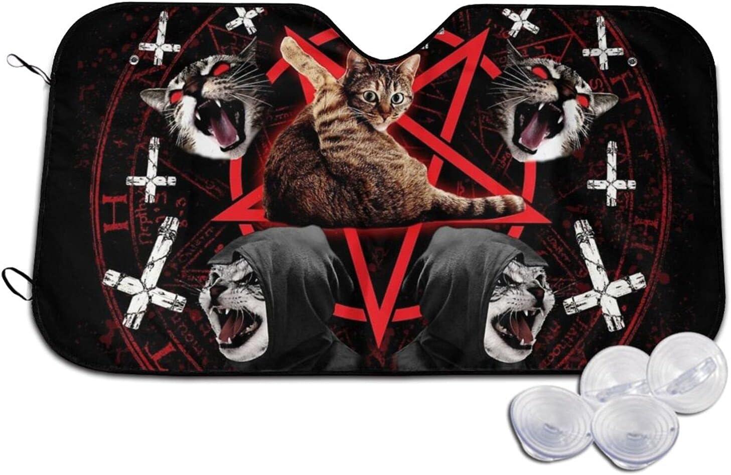 Outdoor Protection Same day shipping UV Rays Blocker Pentagram Satanic Cat Max 73% OFF Death
