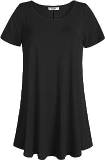 dac219a5e35 Esenchel Women s Tunic Top Casual T Shirt for Leggings