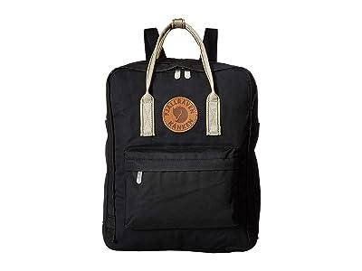 Fjallraven Kanken Greenland (Black/Greenland Pattern) Backpack Bags
