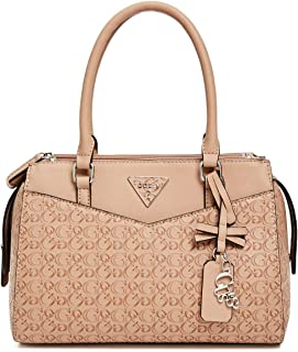 GUESS Womens Desire Logo-Embossed Box Satchel Bag Handbag