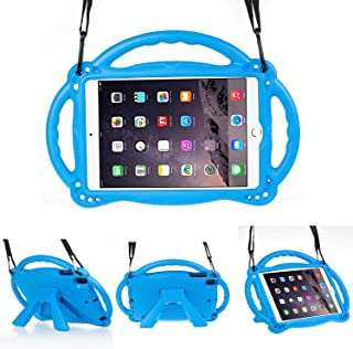 LTROP Compatible Case for iPad Mini 1 2 3 4 Generation Tablet– Light Weight Shock Proof iPad Mini Case Cover for Kids with Handle and Stand, Blue