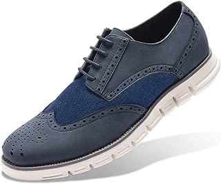 GM GOLAIMAN Men's Oxford Sneaker Wingtip Brogue Oxfords Dress Shoes