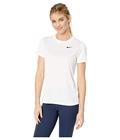 Nike Dry Legend Tee Crew (White/Black) Women
