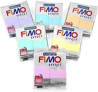 Efecto Fimo Polímero Horno Arcilla para Moldear - 57g - Juego de 6 - Pastel Acabado
