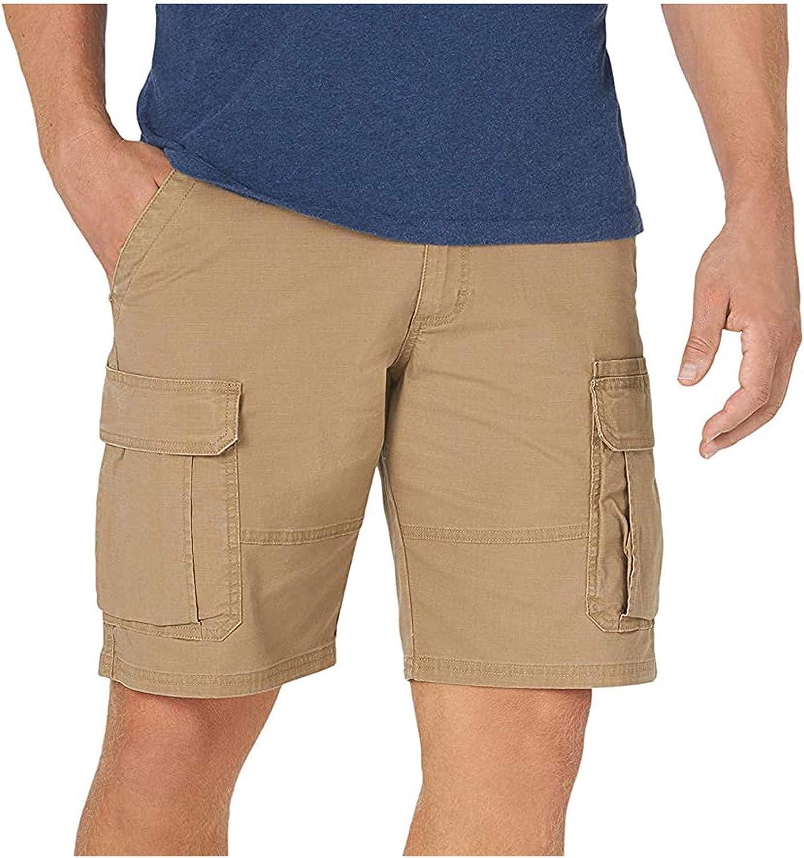 Men's Cargo Shorts with Pockets Vintage Cargo Pants Short Pants Regular Summer Shorts Outdoor Breathable Short Chino Pants