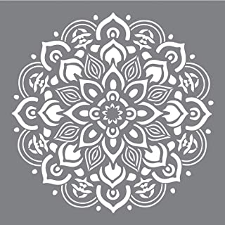 Rayher 38969000 Pochoir Mandala, 30,5x30,5cm sct.-LS, pour divers supports, gris