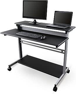 Mobile Ergonomic Stand up Desk Computer Workstation (48