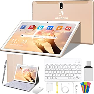 Tablet 10 Pulgadas 4G/WiFi Android 9.0 Pie Ultrar-Rápido Tablets 4GB RAM + 64GB ROM/256GB Escalable | Laptop Convertible d...