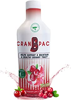 Cran-B-PAC - All Natural & Non GMO Cranberry Concentrate Liquid w/Low Sugar & Vitamins - High Concentration Juice Suppleme...