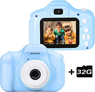 le-idea Cámara para niños Cámara de Fotos Digital 2 Objetivos Selfie 12MP Cámara Digital 1080P HD Video cámaras para Niños Niñas con Zoom Digital 4X , 2