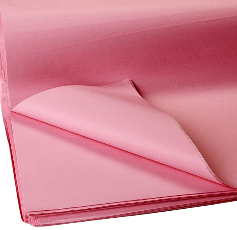 Jillson Roberts Bulk 20 x 30 Inches Recycled Tissue Available in 28 Colors, Pink, 480 Unfolded Sheets (BFT06)