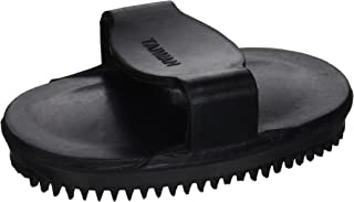 HORSE AND LIVESTOCK PRIME 54056 054056 Soft Rubber Curry Brush for Horses, Black, Small