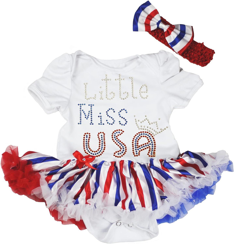 Petitebella Credence Rhinestones Little Miss USA Purchase Nb-18m Baby Crown Dress