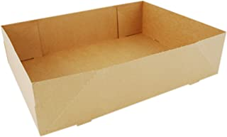 "Southern Champion Tray 1270 #2 Kraft Paperboard One Piece Donut Tray, 13-1/2"" Length x 9-7/8"" Width x 3-3/8"" Height (Case ..."