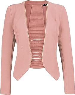 Michel Women's Open Front Lightweight Cardigan Blazer Jacket