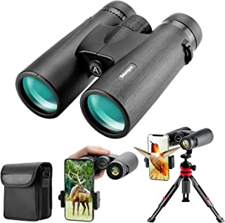 12x42 HD Binoculars for Adults with Upgraded Phone Adapter, Tripod and Tripod Adapter - Large View Binoculars with Clear L...