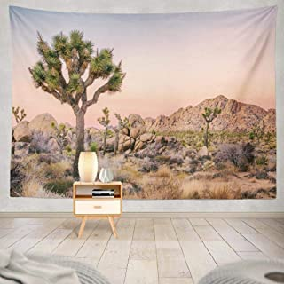 Geericy Wall Hanging Tapestry Tree Landscape National Park California Beautiful Desert Wall Tapestry Dorm Home Decor Bedro...