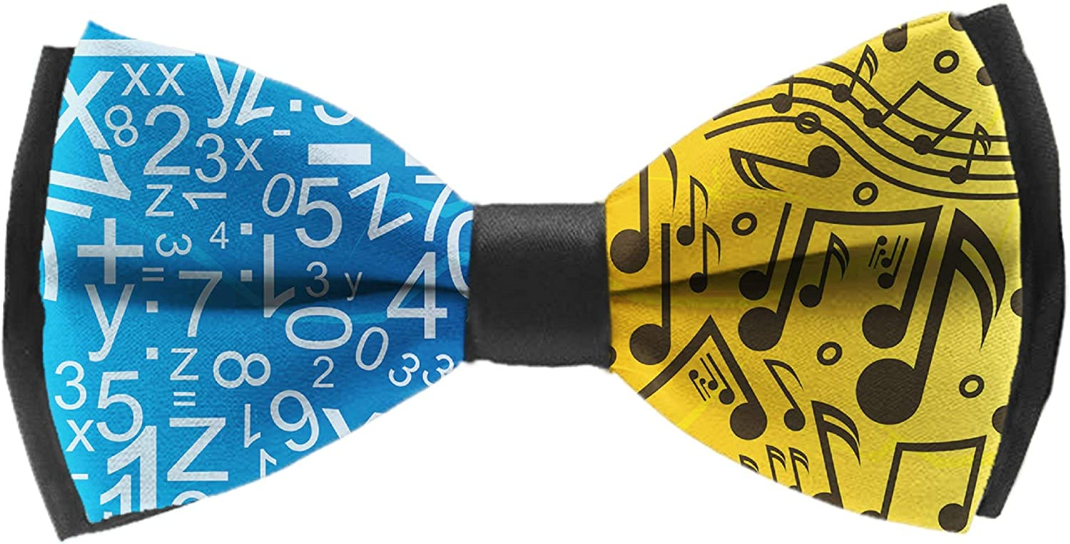 Mens Bow Ties Handmade Pre-Tied Guitar Musical-instruments Colorful Pattern Bow Ties For Men