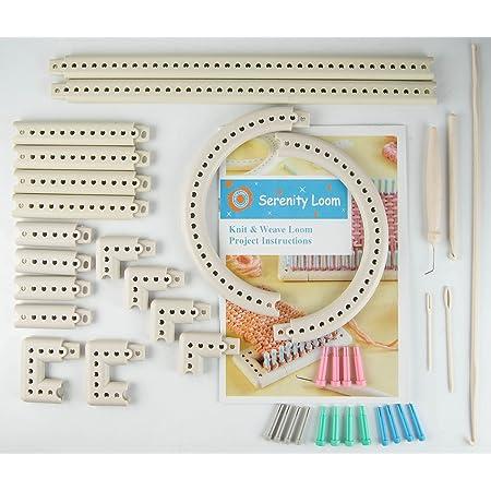 Kit de tricot et tissage avec métier à tisser et métier à tricoter 5000-100 - Accessoire multi-usage avec plusieurs types de métiers