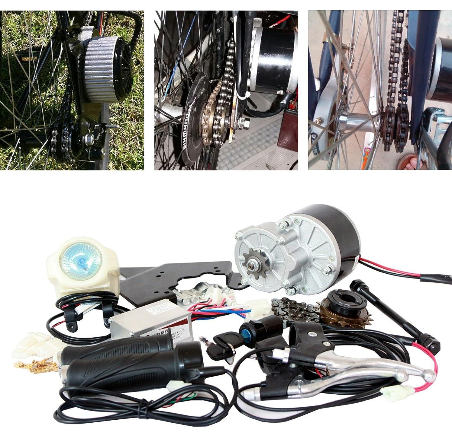 エンディング非アクティブぺディカブ24/36ボルト250ワット電気motorized e-bike自転車変換キット(サイドマウント) 電動自転車モーターキット最安値e-bikeモーターセット