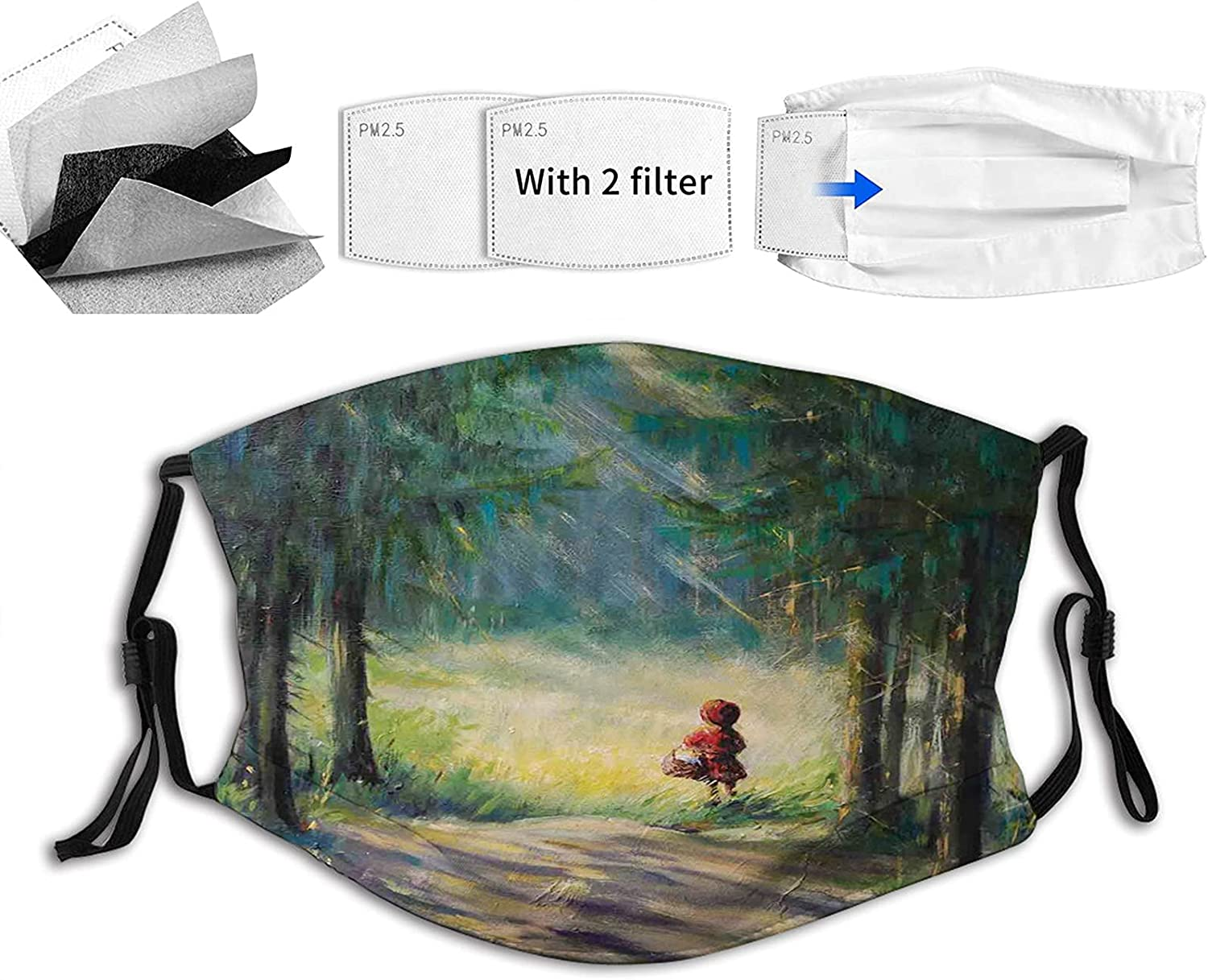 Comfortable Printed lowest price mask Watercolor Traditional Story Max 51% OFF Il Ancient
