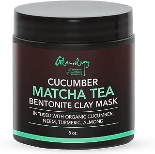 Matcha Tea, Cucumber, Bentonite Clay Purifying Face Scrub & Exfoliator with Neem Powder, Turmeric and Almond Powder, Improves Complexion, Anti-Aging, Detoxifying, Antioxidant, Moisturizer, Anti-Acne