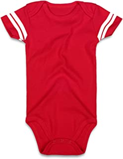 ROMPERINBOX Blank Baby Football Jersey Short Sleeve Bodysuit