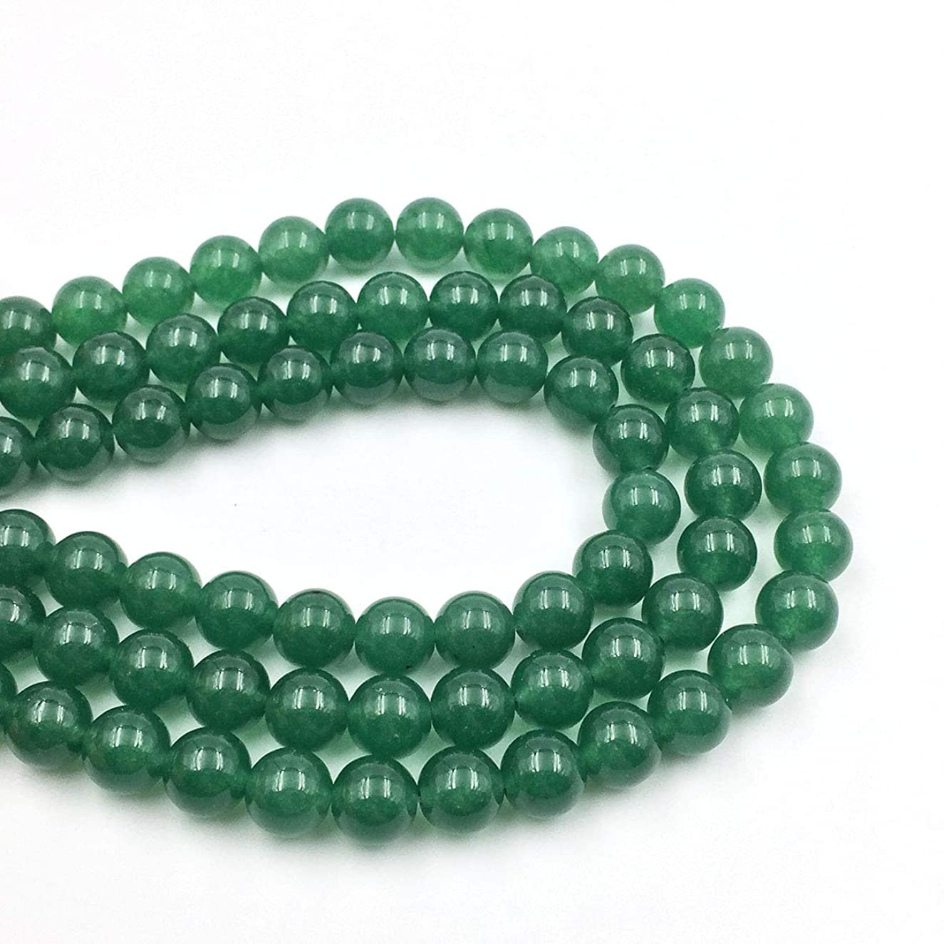 favoramulet Green Aventurine 8mm Round Loose Beads Strand for Jewelry Making 14