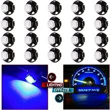 cciyu T5 Neo Wedge HVAC Climate Heater Control Light 5050 SMD Instrument Panel Gauge Cluster Dashboard LED Bulb,20 Pack Super Blue