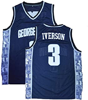 MHTJ AB Mens Iverson Jerseys #3 Basketball Jersey The University Sports Jerseys Blue
