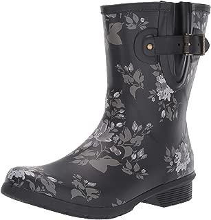Women's Mid-Height Printed Rain Boot with Memory Foam Calf